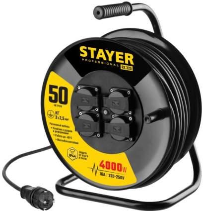 """Удлинитель на катушке """"Stayer. RX 325"""", 50 м, 4000 Вт, 4 гнезда, IP44, КГ 3x2,5 кв мм"""