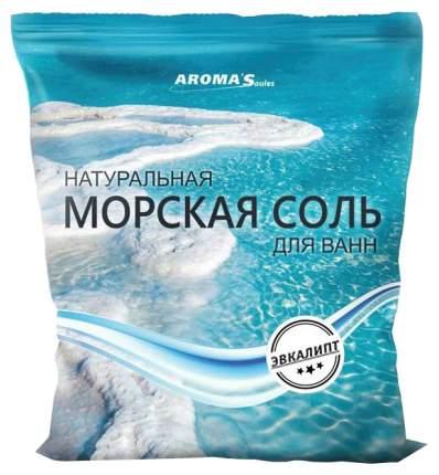 Соль морская для ванн Saules Sapnis с экстрактом эвкалипта, 1 кг