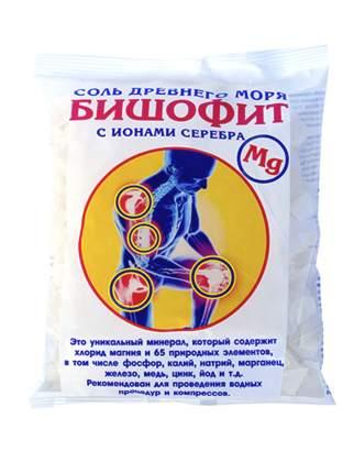 Соль для ванн Saules Sapnis Бишофит сухой, с ионами серебра, 0,5 кг