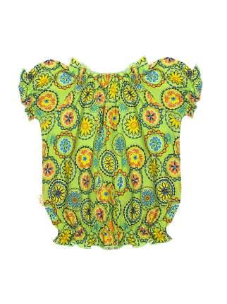 Топ для девочек Желтый кот 278к зеленый-98