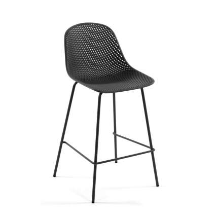 Полубарный стул La Forma Quinby 77967, черный/серый