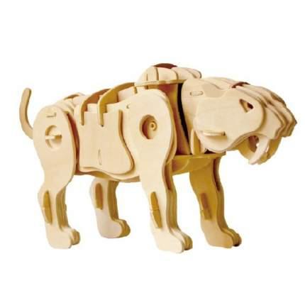 A410 3D Деревянный пазл Robotime на звуковом управлении - Саблезубый тигр