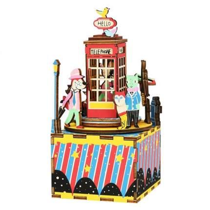 AM401 3D деревянный паззл Музыкальная шкатулка Телефонная будка