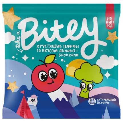 Экструдированные мультизлаковые фигурки Take a Bitey Паффы со вкусом Яблоко-Брокколи 20 г