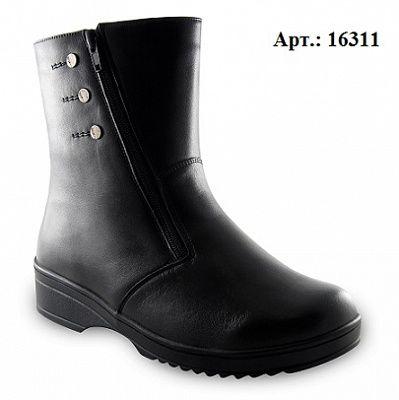 Полусапоги женские 16311 Sursil-Ortho черный, р.36