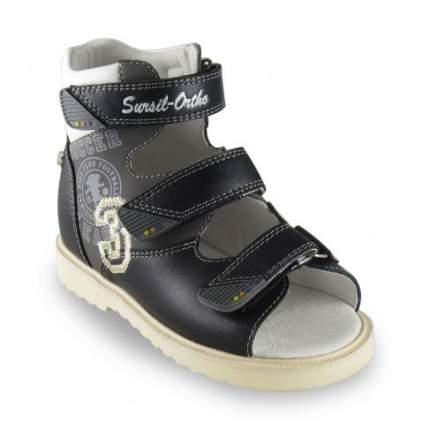 Ортопедические сандалии Sursil-Ortho 15-249_M мужские черный, серый