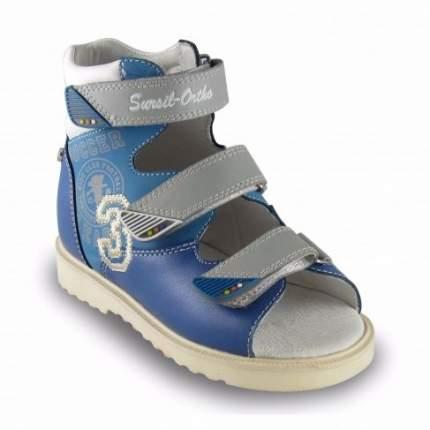 Ортопедические сандалии Sursil-Ortho 15-252_M мужские синий, серый