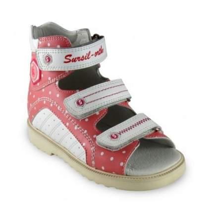 Ортопедические сандалии Sursil-Ortho 15-245_M для девочек белый