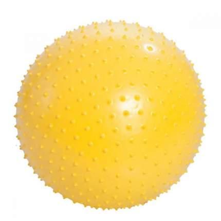 Мяч гимнастический игольчатый М-155, диаметр 55см, желтый Тривес