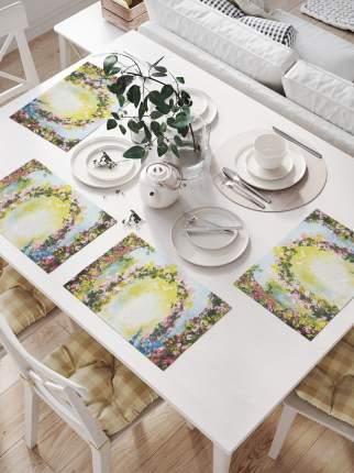 JoyArty Комплект салфеток для сервировки стола «Цветочная двойная арка» (32х46 см, 4 шт.)
