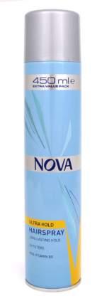 Лак для волос Nova жёлтый сверхсильной фиксации 450мл
