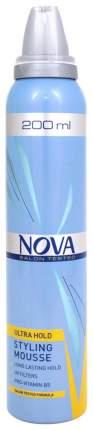 Мусс для волос NOVA Желтый сверхсильной фиксации, 200 мл