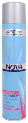 Лак для волос NOVA Красный сильной фиксации, 450 мл