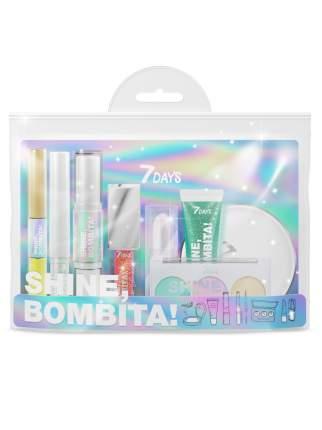 Подарочный набор для макияжа 7DAYS SHINE, BOMBITA! / №7 Phantom, 8 средств