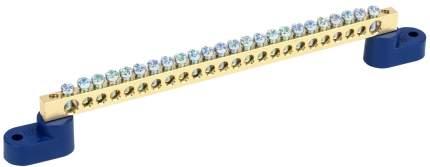 Клеммная шина IEKN ноль на двух угловых изол ШНИ-6х9-24-У2-С
