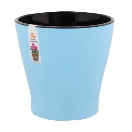 """Горшок цветочный для орхидеи """"Лея"""", двойной, с автополивом, 3,6 литра (голубой)"""