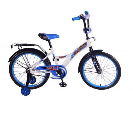 Велосипед детский «MUSTANG» , размер колес 20 дюймов, цвет бело-синий. Mustang