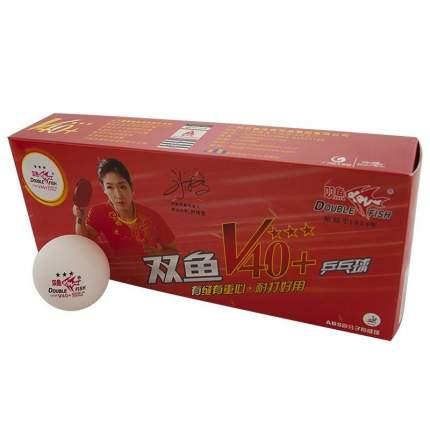 Мяч для настольного тенниса Double Fish 3***World Cup 40+, 10 шт., белый