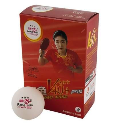 Мяч для настольного тенниса Double Fish 3***World Cup 40+, 6 шт., белый