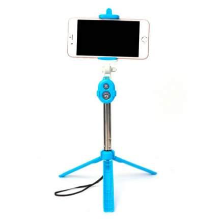 Селфи палка-тренога для телефонас Bluetooth кнопкой (Голубой) 00000100653