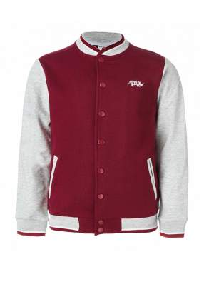 Куртка-бомбер для мальчика Button Blue, цв.красный, р-р 110