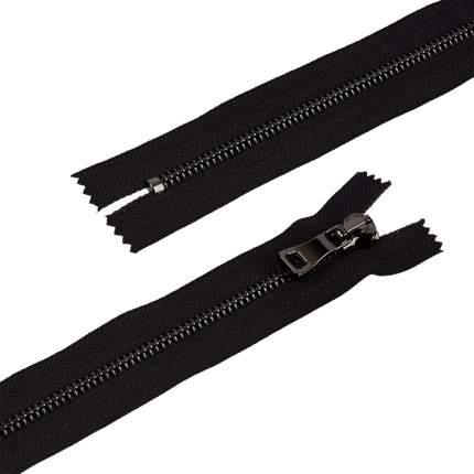 """Молния декоративная Gamma """"Premium"""" однозамковая, 18 см, цвет: чёрный, под черный никель,"""