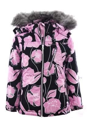 Куртка для девочки KUOMA, цв.чeрный, р-р 134