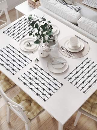 JoyArty Комплект салфеток для сервировки стола «Колючая проволока» (32х46 см, 4 шт.)