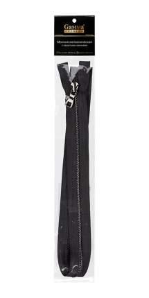 """Молния декоративная Gamma """"Premium"""" однозамковая, 80 см, цвет: чёрный, под чёрный никель,"""