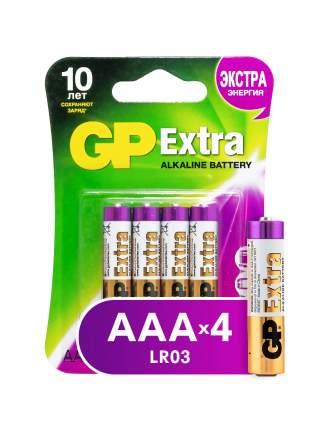 Батарейка GP  Extra AAA (LR03) 4 шт