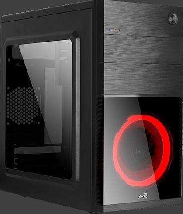 Корпус компьютерный Aerocool Cs-105 Red