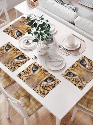 Комплект салфеток для сервировки стола «Мордашка леопарда» (32х46 см, 4 шт.)