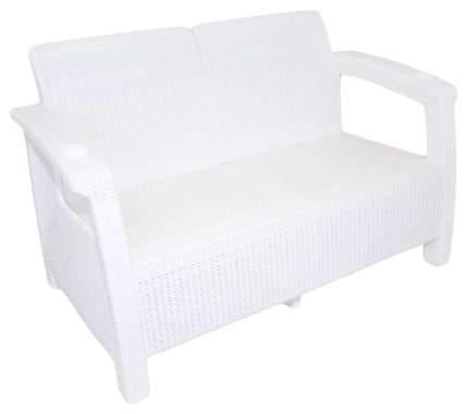 """Диван """"Ротанг"""" (1270х700х790)без подуш.(белый)"""