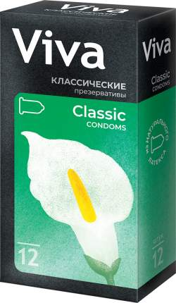 Презервативы Viva классические на силиконовой основе