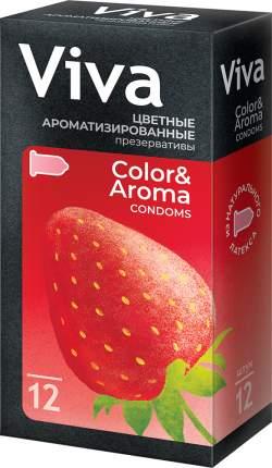 Презервативы Viva цветные ароматизированные 12 шт.