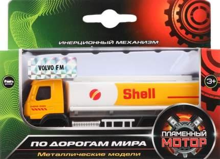 Грузовик инерционный Пламенный мотор Volvo Автоцистерна 1:72, 12 см