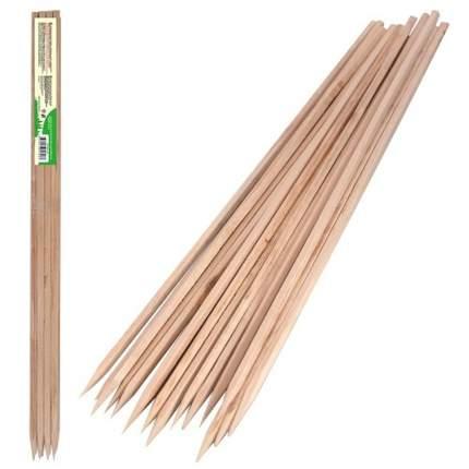 Набор шампуров для шашлыка, деревянные, квадратные, 16 штук