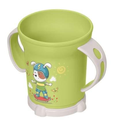 Детская чашка Бытпласт зеленая, 270 мл