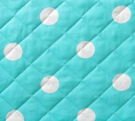 Покрывало стеганое Элис 3, бязь, 110x140 см цвет: бирюзовый