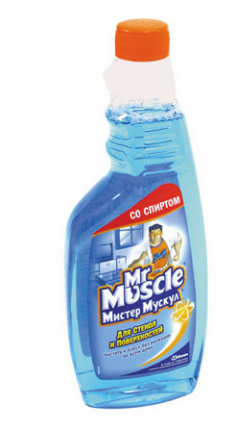 Чистящее средство для стекол запасной блок Mr.Muscle утренняя роса 500 мл