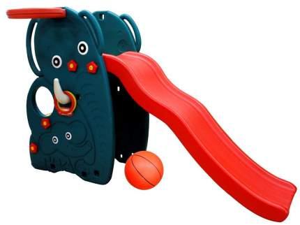 Горка Happy Box Слон сбаскетбольнымкольцомимячом