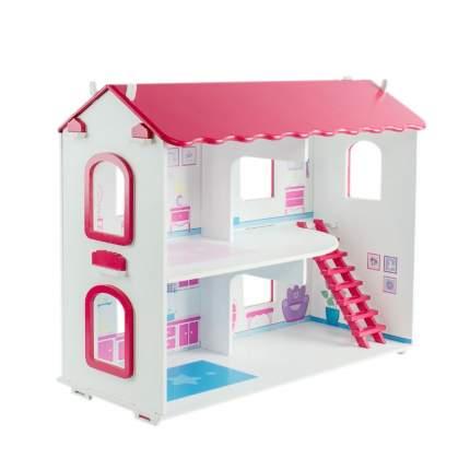 Кукольный домик Коняша Карамель с мебелью и интерьером для кукол до 15 см, 49x21x41 см