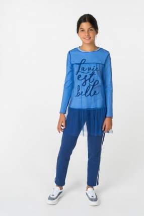 Комплект лонгслив и туника для девочки Gulliver, цв.синий, р-р 164