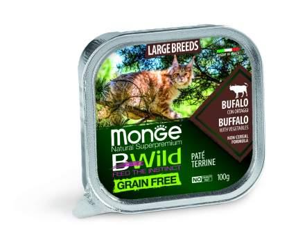 Влажный корм для кошек Monge Grain free, говядина, 16шт, 100г