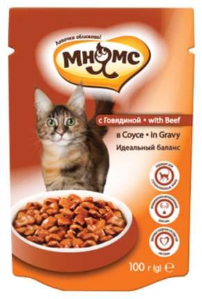Влажный корм для кошек Мнямс идеальный баланс, говядина, 12шт, 100г