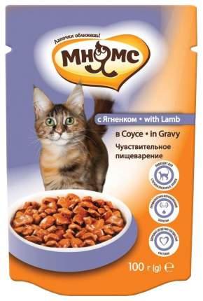 Влажный корм для кошек Мнямс чувствительное пищеварение, ягненок, 12шт, 100г