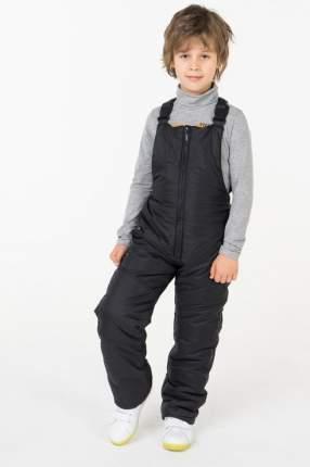 Полукомбинезон утепленный для мальчика Button Blue, цв.чeрный, р-р 134