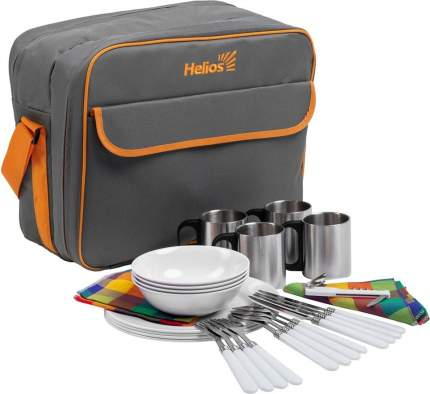 Набор для пикника на 4 персоны серый HS-425(4)G Helios