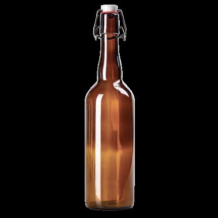 Бутылка с бугельным замком стекло 750 мл