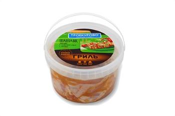 Шашлык куриный Троекурово в сливочном соусе с зеленью охлажденный ~2 кг